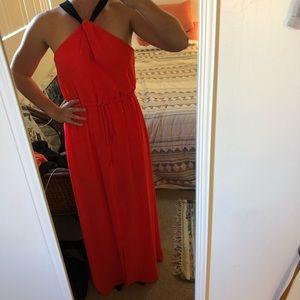 ASTR Red-orange maxi dress